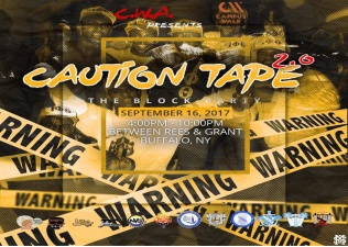 Campus Walk Caution Tape 2.0 Block Party